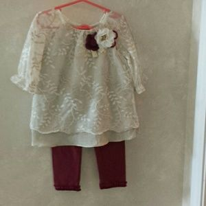 Rare Editions 2 pc. Infant pant top set